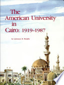The American University In Cairo 1919 1987