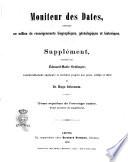 Moniteur des dates Biographisch-genealogisch-historisches Welt-register ... von Eduard Maria Oettinger