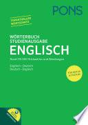 PONS W  rterbuch Studienausgabe Englisch