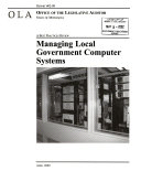 Managing Local Government Computer Systems