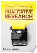 Doing   Writing Qualitative Research