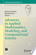 Advances In Applied Mathematics Modeling And Computational Science book