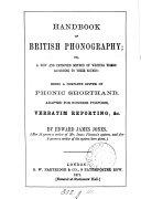 Handbook of British phonography
