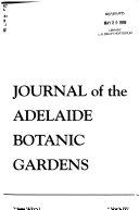 Journal of the Adelaide Botanic Gardens