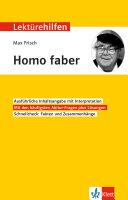 Lekt  rehilfen Max Frisch  Homo faber