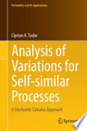 Analysis of Variations for Self similar Processes