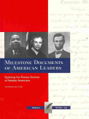Milestone Documents of American Leaders  Du Bois  W E B