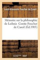 Memoire Sur La Philosophie de Leibniz