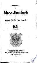 Staats- und Adreß-Handbuch der Freien Stadt Frankfurt