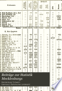 Beiträge zur Statistik Mecklenburgs