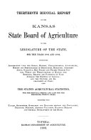 Quarterly Report of the Kansas State Board of Agriculture  for the Quarter Ending