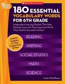 180 Essential Vocabulary Words for 6th Grade