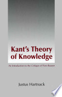Kant s Theory of Knowledge