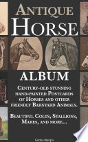 Antique Horse Album: Century-old Stunning Hand-painted Postcards Of Horses And Other Friendly Barnyard Animals : from in and around the year 1913, mostly...