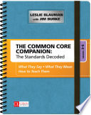 The Common Core Companion  The Standards Decoded  Grades 3 5