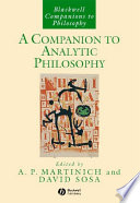 A Companion to Analytic Philosophy