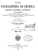 Nuova enciclopedia di chimica scientifica  tecnologica e industriale colle applicazioni a tutte le industrie chimiche e manifatturiere