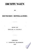 Barlaam und Josaphat [von Rudolf von Hohenems, hrsg. von Franz Pfeiffer]