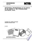 Geotechnical Reconnaissance Of The Effects Of The January 17 1995 Hyogoken Nanbu Earthquake Japan
