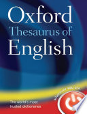 Oxford Thesaurus Of English : revised text offers more up-to-date...