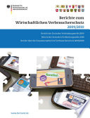 Berichte zum Wirtschaftlichen Verbraucherschutz 2009 2010