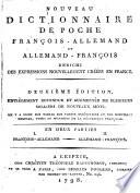 Nouveau dictionnaire de poche fran  ais allemand et allemand fran  ais