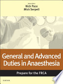 General and Advanced Duties in Anaesthesia  Prepare for the FRCA