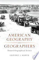 American Geography and Geographers