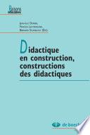 illustration du livre Didactique en construction, constructions des didctiques