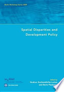 Spatial Disparities and Development Policy Meetings Held From September 30