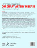 Translational Research In Coronary Artery Disease : the entire spectrum of basic science,...