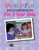 Quick and Fun Learning Activities for Three year olds Book PDF