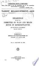 Tariff Readjustment - 1929
