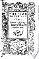 Thresor des livres d Amadis de Gavle