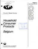 Household consumer products, Belgium
