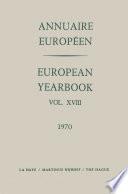 Annuaire Europ En European Yearbook