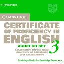 Cambridge Certificate of Proficiency in English 3 Audio CD Set (2 CDs)
