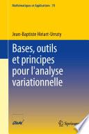 illustration Bases, outils et principes pour l'analyse variationnelle