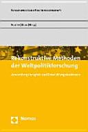 Rekonstruktive Methoden der Weltpolitikforschung
