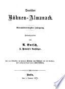 A. Heinrich's deutscher Bühnen-Almanach