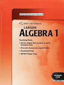 Algebra 1 Common Core Assessment Book