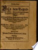 Leichpredigt bey dem Begräbniß der ... Jungfrauen Christina Pflugin ...