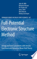 Full Potential Electronic Structure Method book