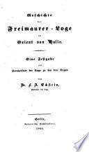Geschichte der Freimaurer-Loge im Orient von Halle