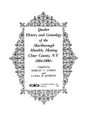Ebook Quaker History and Genealogy of the Marlborough Monthly Meeting, Ulster County, N.Y., 1804-1900+ Epub N.A Apps Read Mobile