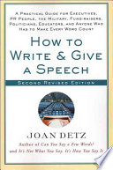How To Write Give A Speech