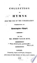 A Collection of Hymns for the Use of the Congregation Worshipping at Kennington Chapel