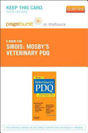 Mosby s Veterinary PDQ Pageburst on VitalSource Access Code