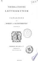 Catalogus van boeken en handschriften voorhanden bij Frederik Muller & Cie, Amsterdam