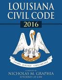 Louisiana Civil Code 2016